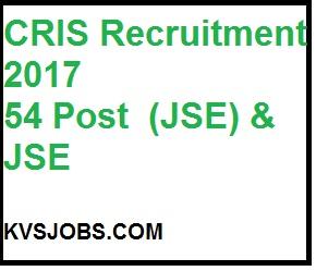 CRIS Recruitment 2017